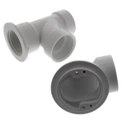 Bath Waste T-Waste Half Kit - CP Toe Pop-Up Drain w/ 2 Hole Face Plate (PVC)