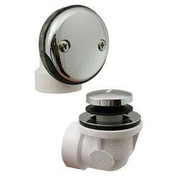 Bath Waste Std. Half Kit<br>CP Toe Pop-Up Drain<br>w/ 2 Face Plate (PVC) Product Image