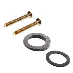 Bath Waste Std. Half Kit<br>PB Lift & Turn Drain<br>w/ 2 Hole Face Plate (PVC) Product Image