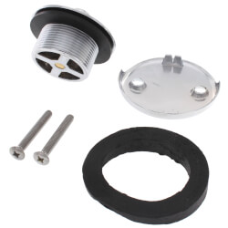 Bath Waste T-Waste Half Kit - CP Brass Lift & Turn Drain, 2 Hole FP (ABS) Product Image