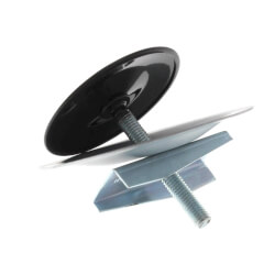 "1-3/4"" OD Sink Hole Cover w/ Wing Nut (Black) Product Image"