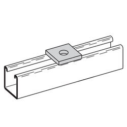 "Zinc Square Washer (11/16"" Hole, 5/8"" Bolt) Product Image"