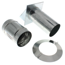 """Pressure Relief Damper w/ Wall Cap and 4"""" Collar Product Image"""