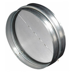 "BDD8R 8"" Round Duct Metal Back Draft Damper Product Image"