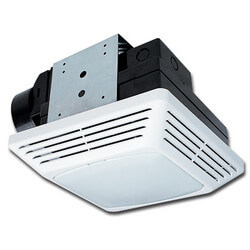 "BFQF50 Quiet Exhaust Energy Star Fan with Light / 4"" Duct (50 CFM) Product Image"