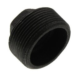 """1-1/4"""" x 1/4"""" Black Hex Bushing Product Image"""