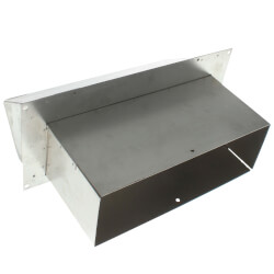 "3-1/4"" x 10"" Duct Aluminum Wall Cap<br>w/ Damper Product Image"