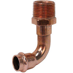 "1-1/4"" Press x Male Copper 90° Elbow Product Image"