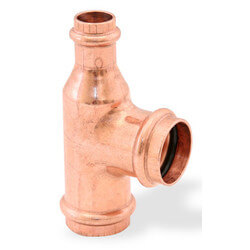 """1-1/2"""" x 1/2"""" x 1-1/2""""<br>Press Copper Tee Product Image"""