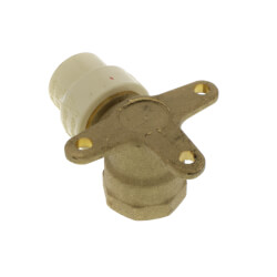"1/2"" CPVC x Female Brass Drop Ear Elbow (Lead Free) Product Image"