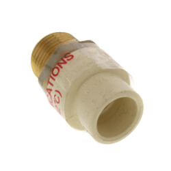 "1/2"" CPVC x Male Brass Adapter (Lead Free) Product Image"