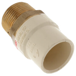 "1"" CPVC x Male Brass Adapter (Lead Free) Product Image"