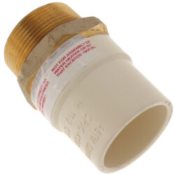 "1-1/2"" CPVC x Male Brass Adapter (Lead Free) Product Image"