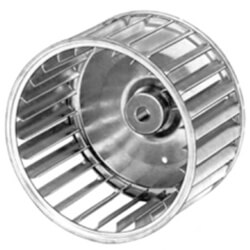 "Galvanized Steel CW Blower Wheel (3-13/16"" Diameter, 1/4"" Bore) Product Image"