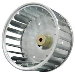 "Galvanized Steel Blower Wheel (4-1/4"" Diameter, 1/4"" Bore) Product Image"