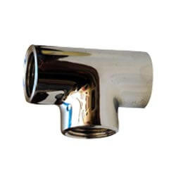 "3/8"" Chrome Brass Tee (Lead Free) Product Image"