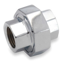"3/8"" Chrome Brass Union (Lead Free) Product Image"