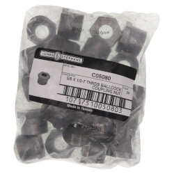 "5/8"" x 1/2"" Zinc Ballcock Coupling Nut (Bag of 25) Product Image"
