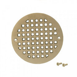 "5.196"" Heavy Duty<br>Round Cast Brass Strainer<br>(Pearl Nickel) Product Image"