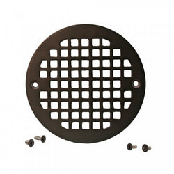 "5.196"" Heavy Duty<br>Round Cast Brass Strainer<br>(Oil Rubbed Bronze) Product Image"