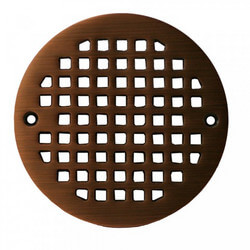 "5.196"" Heavy Duty<br>Round Cast Brass Strainer<br>(Old World Bronze) Product Image"