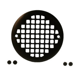 "4-1/4"" Heavy Duty<br>Round Cast Brass Strainer<br>(Oil Rubbed Bronze) Product Image"