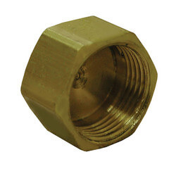 "(61C-4) 1/4"" OD Brass Compression Cap"