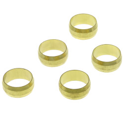 "(60-10) 5/8"" OD Brass Compression Sleeve Product Image"