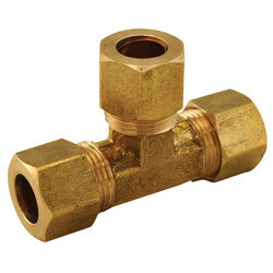 "(64-664) 3/8"" x 3/8"" x 1/4"" OD Brass Compression Tee"