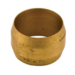 "(60-7) 7/16"" Lead<br>Free OD Brass<br>Compression Sleeve Product Image"