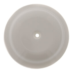 """5-1/4"""" High Impact Plastic Cleanout Cover - Plates Bell Design, White Finish Product Image"""