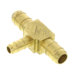 "3/8"" Barbed x 3/8"" Barbed x 1/4"" Barbed Pneumatic Reducing Tee Product Image"