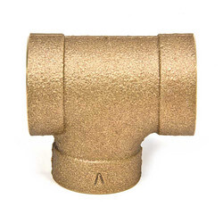"4"" x 4"" x 2"" Cast Copper DWV Sanitary Tee (T-Y)"