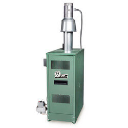 CLW 88,000/114,000 BTU Output, Oil Fired Water Boiler w/ Tankless Coil (Dual Firing)