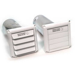 "COM4P Plastic Supply & Exhaust Hood Combination (Pair), 4"" Duct"