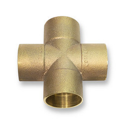 "3/4"" Wrot Copper Cross"