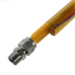 "3/4"" ID Stainless Steel<br>Gas Connector w/ 3/4"" FIP x MIP Fittings (24"" Length) Product Image"