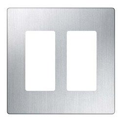Claro 2-Gang Stainless Steel Wallplate