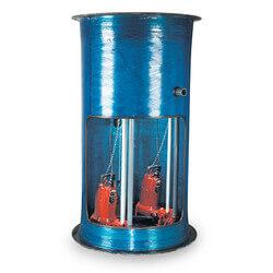 """2 HP 1-Stage Grinder Pkg.<br>208-230V 36"""" x 84"""" Basin<br>48"""" Discharge Depth Product Image"""