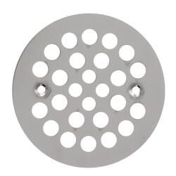 "4-1/4"" Strainer w/ Screws for Fiberglass Shower Stalls (Stainless Steel) Product Image"