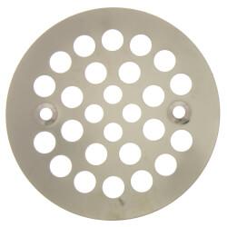 "4-1/4"" Strainer w/ Screws for Fiberglass Shower Stalls (Brushed Nickel) Product Image"