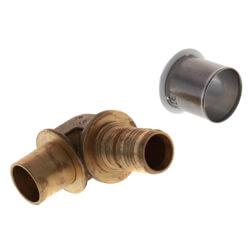 "3/4"" PEX-AL-PEX x 3/4"" Copper Fitting Baseboard Elbow Product Image"