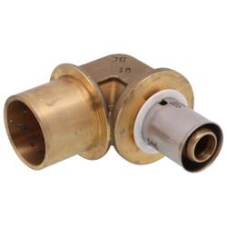 "1/2"" PEX-AL-PEX x 3/4"" Copper Pipe Baseboard Elbow Product Image"