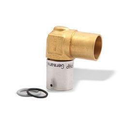 "5/8"" PEX-AL-PEX x 3/4"" Copper Pipe Baseboard Elbow Product Image"