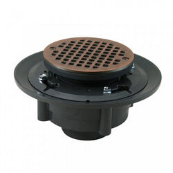 "2"" x 3"" Old World Bronze Heavy Duty Shower Drain w/ 5"" Round Strainer"