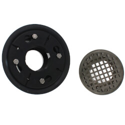 """2"""" x 3"""" Shower Drain<br>w/ 4-1/4"""" Round Strainer<br>(Brushed Nickel) Product Image"""