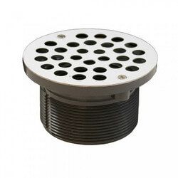 "5"" Round Strainer<br>w/ 3-1/2"" PVC Spud (Stainless Steel) Product Image"