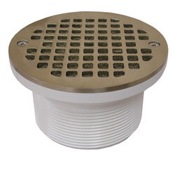 "5"" Round Strainer<br>w/ 3-1/2"" PVC Spud (Old World Bronze) Product Image"