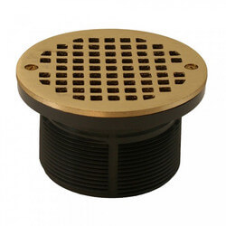 "5"" Round Strainer<br>w/ 3-1/2"" PVC Spud (Polished Brass) Product Image"