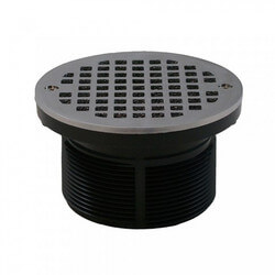"5"" Round Strainer<br>w/ 3-1/2"" PVC Spud (Chrome Plated) Product Image"